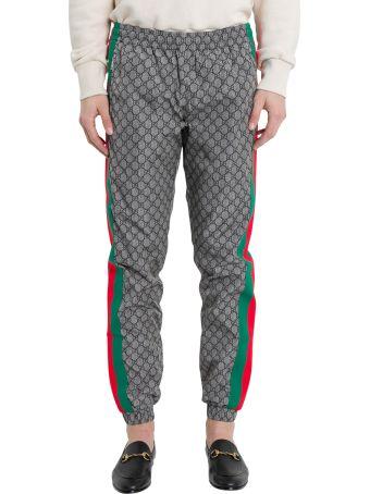 Gucci Oversize Gg Nylon Jogging Pant Grey