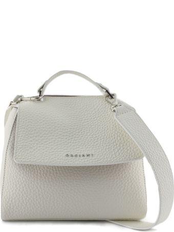 Orciani Sveva Small White Leather Handbag