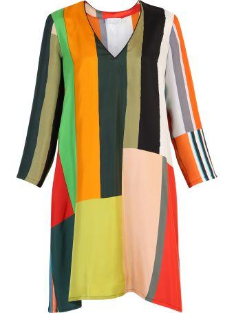 Pierre-Louis Mascia Striped Silk Dress
