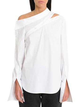 MONSE Off-the-shoulder Spliced Shirt