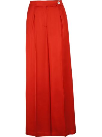 SEMICOUTURE Pleated Palazzo Trousers