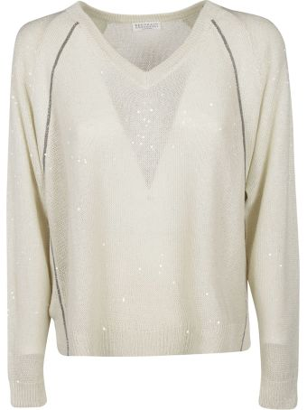 Brunello Cucinelli Sequin Detail Sweater