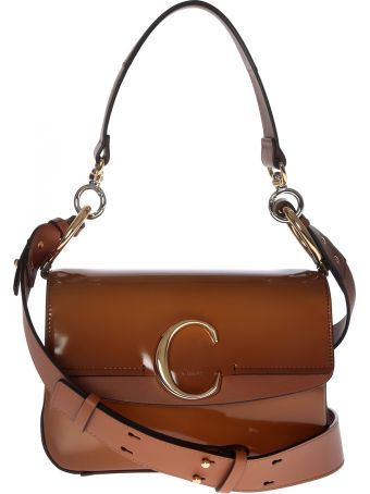 Chloé C Small Double Carry Shoulder Bag