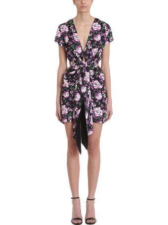 Magda Butrym Dorado Floral Cutouts Crepe Dress
