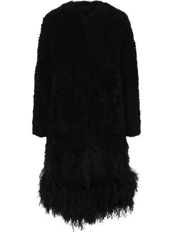 Prada Feather-trim Coat
