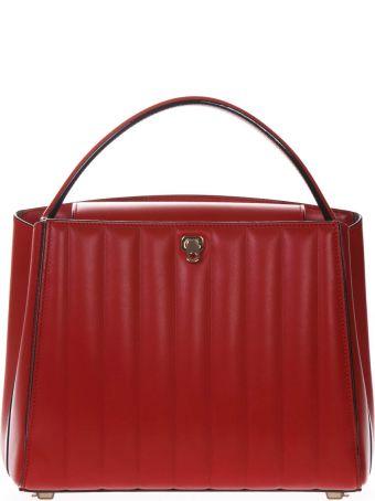 Valextra Brera Top Handle Medium Bag In Red Leather