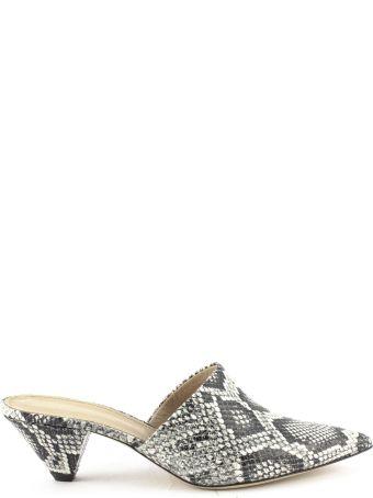 Aldo Castagna Grey Leather Elise Sandals