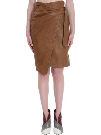 Isabel Marant Étoile Ayeni Skirt In Leather Color Leather