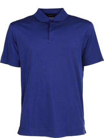 Ermenegildo Zegna Zegna blue cotton polo shirt