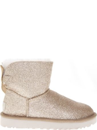 UGG Gold Sheep Leather Mini Bailey Sparkle Boots