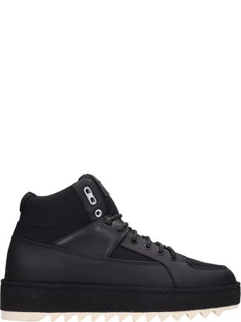 Etq Black Fabric Ht02 Hiking Sneakers