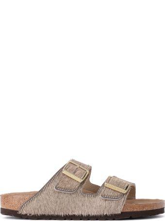 Birkenstock Arizona Grey Cowhair Sandal - Premium