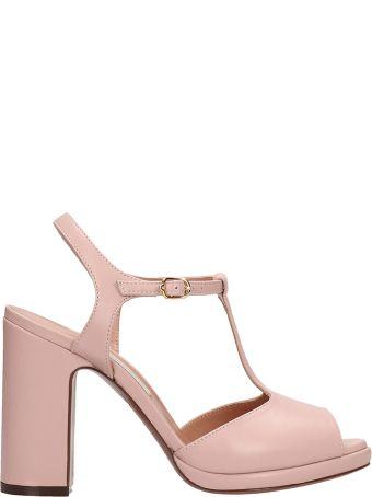 L'Autre Chose Pink Leather Sandals