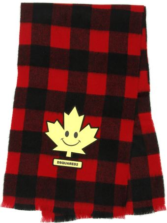 Dsquared2 Scarf With Maple Leaf Patch