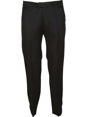 Les Hommes Eyelet Detail Trousers