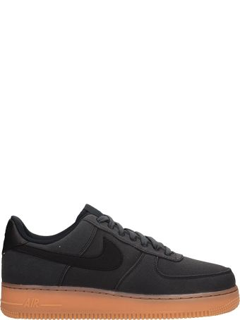 Nike Black Fabric Air Force 1 07 Sneakers