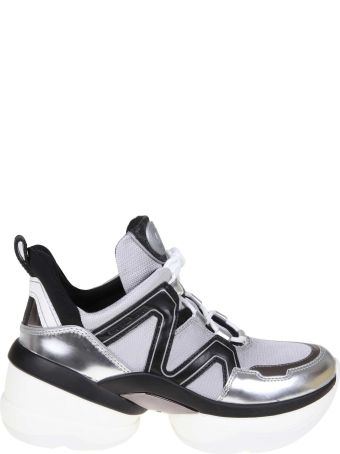 Michael Kors Sneakers Olympia Trainer Color Black / Silver