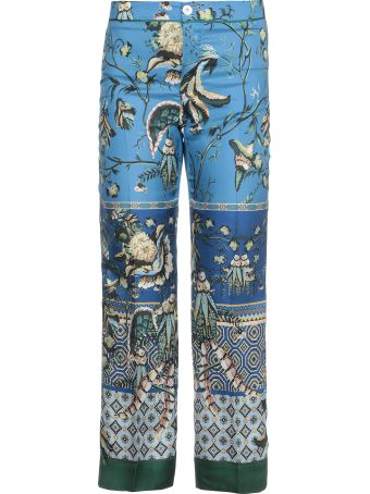 For Restless Sleepers Silk Printed Trousers