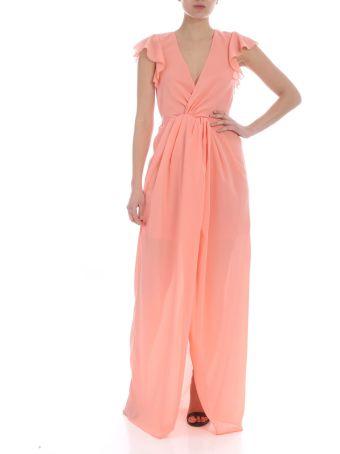 Patrizia Pepe Ruffled Sleeve Long Dress