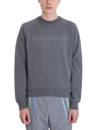 Cottweiler Logo Grey Cotton Sweatshirt