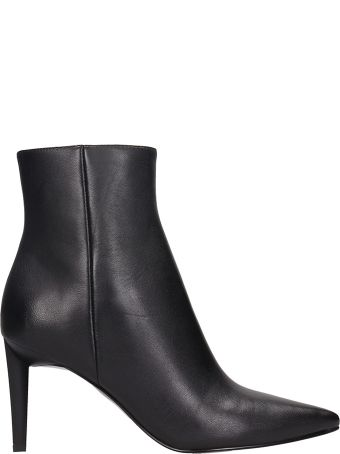 Kendall + Kylie Black Leather Ankle Boots
