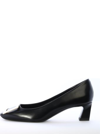 Roger Vivier Pump Trompette Black Leather