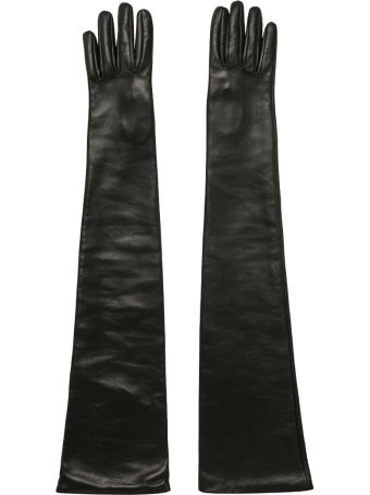 Versace Stretch Leather Gloves