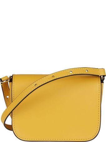 J.W. Anderson Orange Leather Nano Anchor Bag