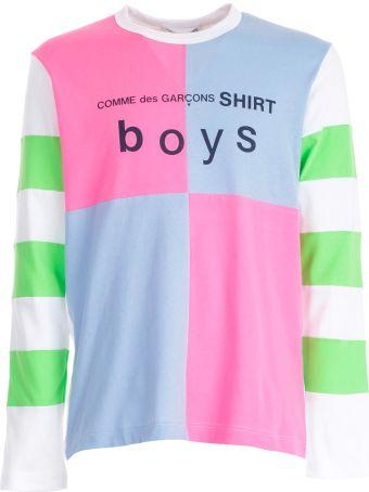 Comme des Garçons Shirt Boy Patchwork Logo Sweatshirt