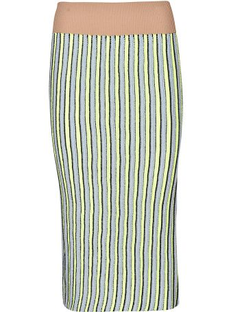 Circus Hotel Striped Pencil Skirt