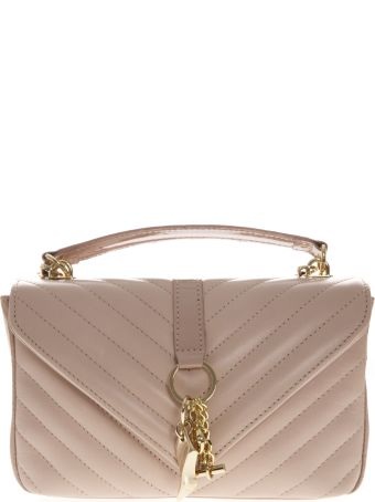 Marc Ellis Danaras Shoulder Bag In Dusty Rose Leather