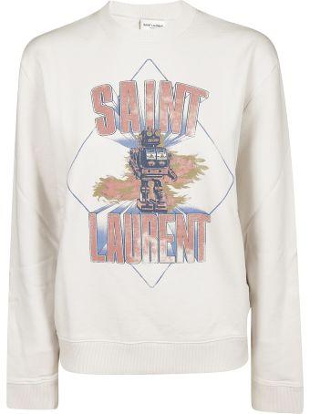 Saint Laurent Graphic Printed Sweatshirt