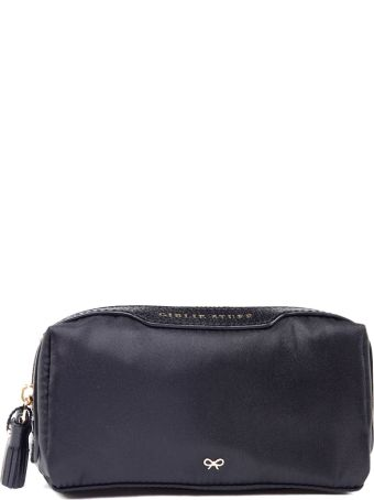 Anya Hindmarch Girlie Stuff Leather And Nylon Make-up Pouch