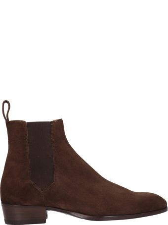 Barbanera Brown Suede Beatles Ankle Boots