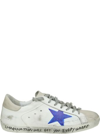 "Golden Goose ""superstar"" Sneakers In White Hand Decorated Leather"