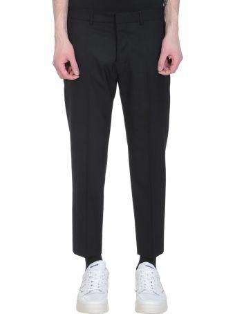 Ami Alexandre Mattiussi Black Wool Cropped Pants