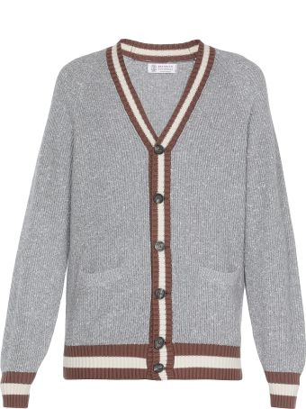Brunello Cucinelli Cotton And Silk Cardigan