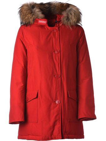 Woolrich Red Winter Parka
