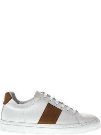 National Standard 4 Edition White Leather Sneakers
