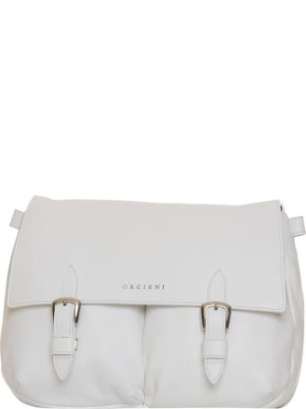 Orciani Bonnie Leather Bag In White