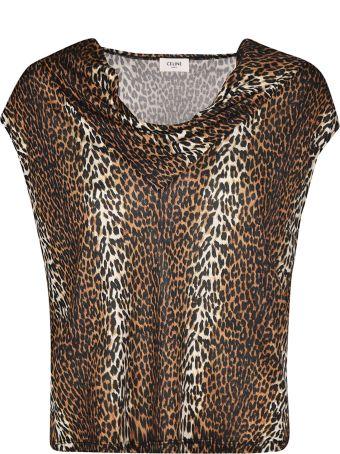 Celine Leopard Print Top