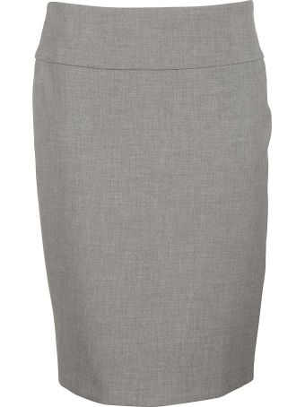 Peserico Rear Slit Skirt