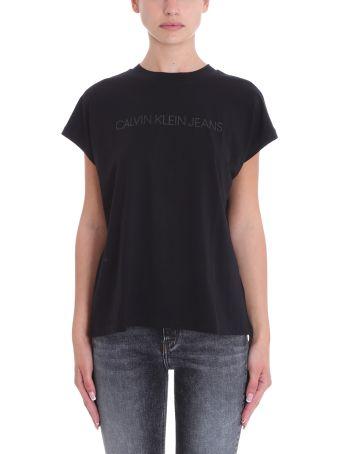Calvin Klein Jeans Black Cotton T-shirt
