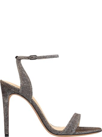 Alexandre Birman Silver Glitter Sandals