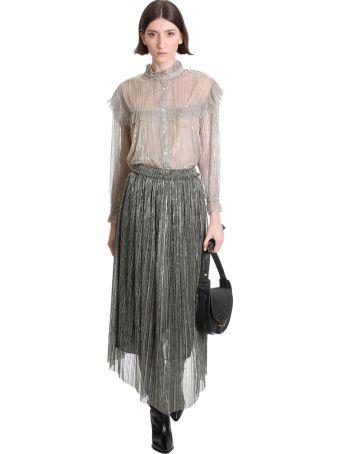 Isabel Marant Étoile Dolmenae Skirt In Silver Polyester