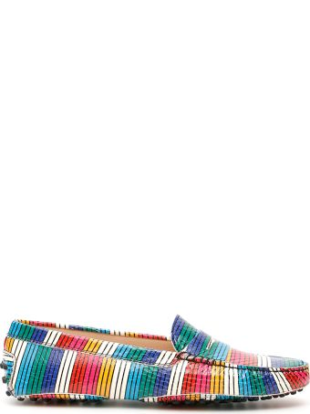 Tod's Multicolor Striped Loafers
