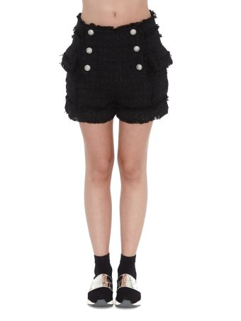 Balmain 6 Buttons Tweed Shorts