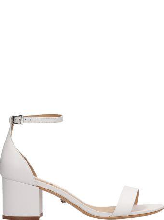 Schutz White Leather Sandals