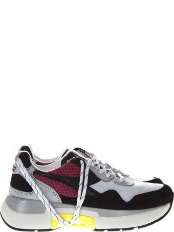 Diadora Heritage White & Amaranth Nylon & Suede Sneakers