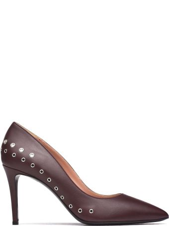 Pollini Pumps In Burgundy Leather